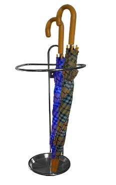 Držák deštníků s nerez miskou - chrom lesklý (Držák deštníků s nerez miskou)